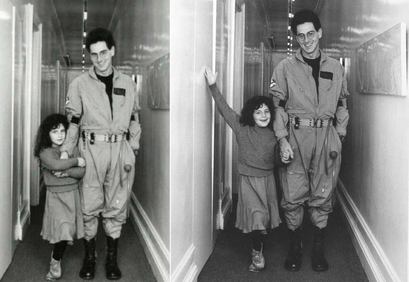 Harold-Ramis-in-his-Ghostbusters-costume-with-his-daughter-Violet-Ramis